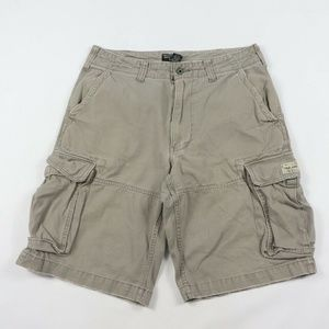 Vintage Ralph Lauren Spell Out Cargo Shorts Gray